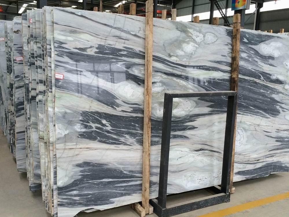 Black Weave Jade Marble Slabs Polished Marble Stone Slabs