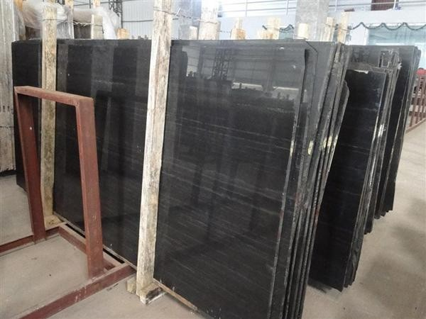 Black Wood Vein Marble Slabs