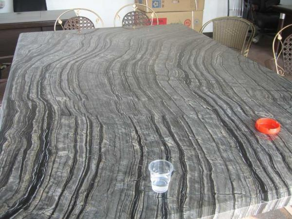 Black Wooden Marble Countertop