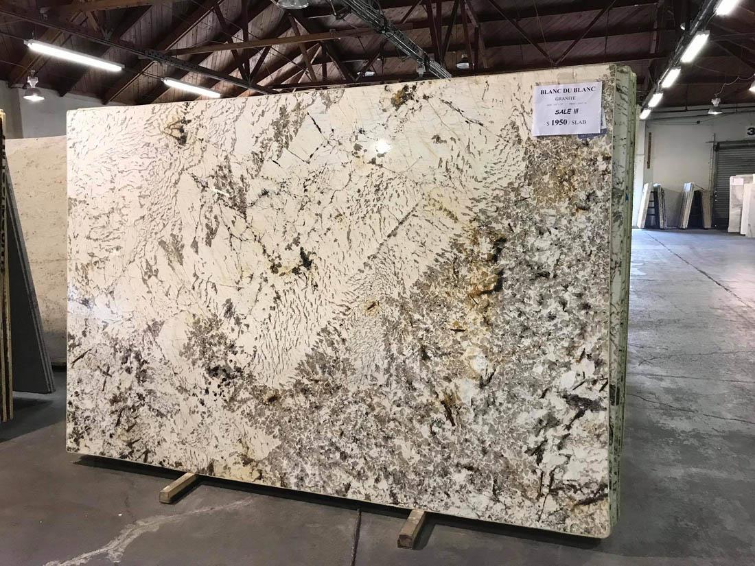 Blanc Du Blanc Slab Polished White Granite Slabs