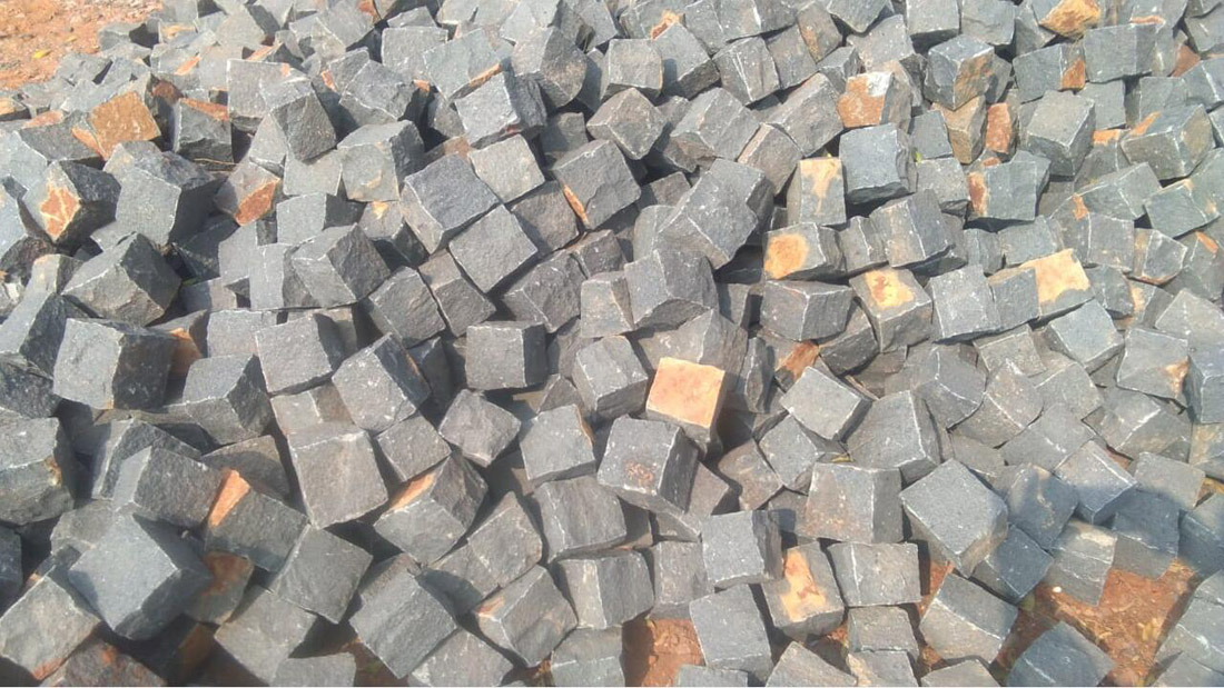Basalt Cube Stone from India