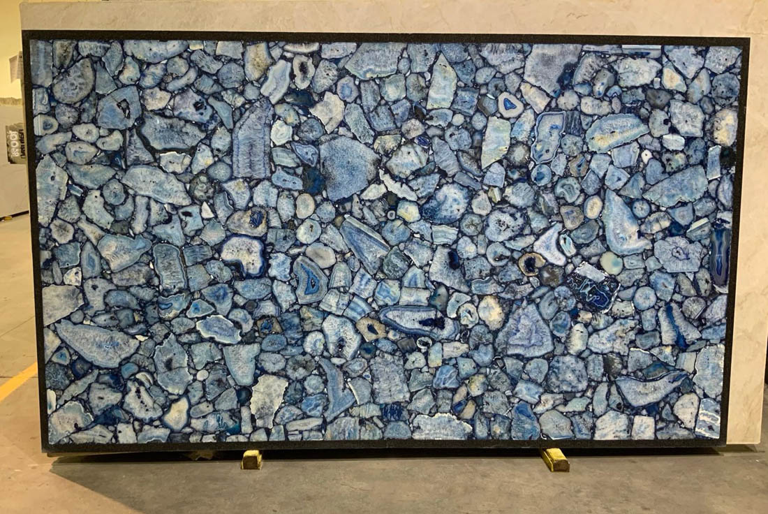 Blue Agate Slabs Polished Blue Stone Slabs