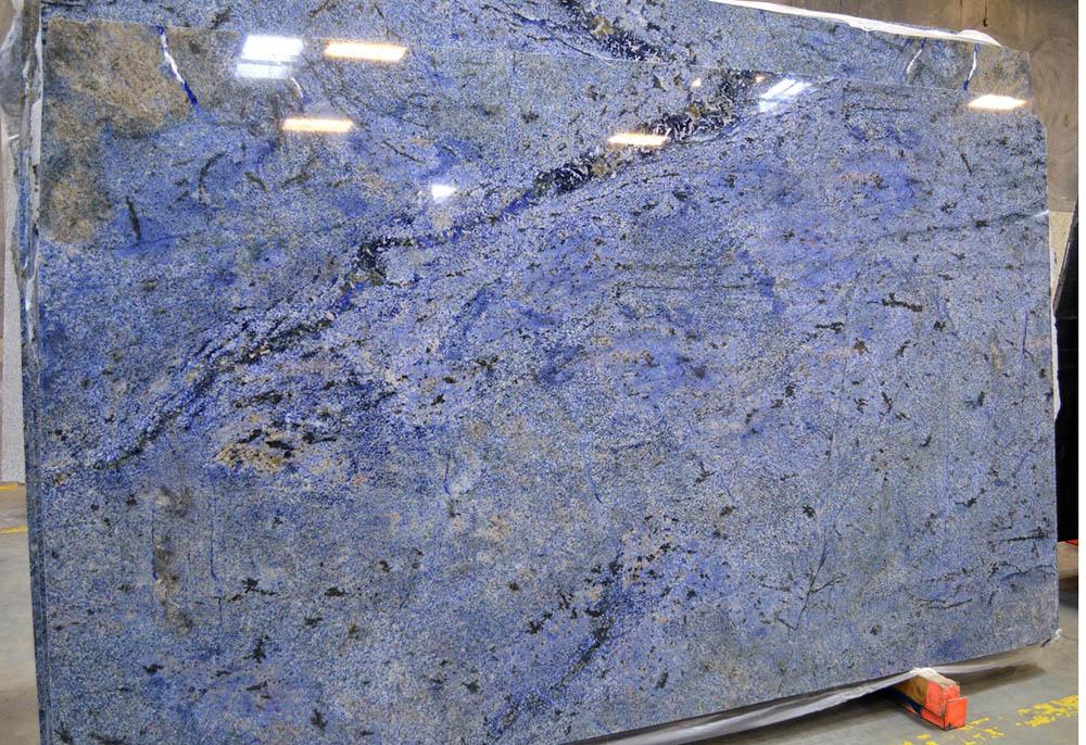 Blue Bahia Granite Slabs Polished Blue Granite Stone Slabs Granite Slabs