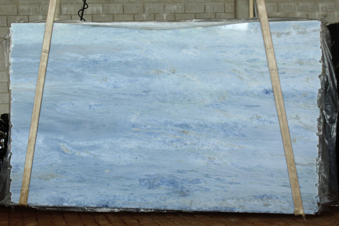 Blue Calcite Marble Slabs Polished