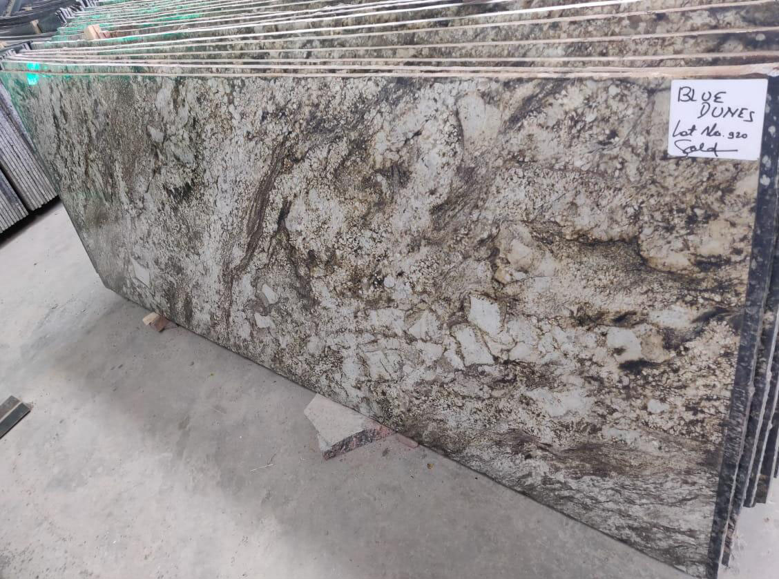 Blue Dunes Polished Granite Slabs for Export