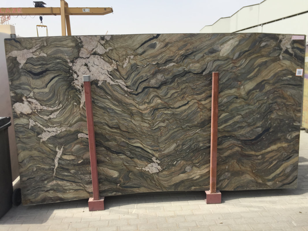 Blue Fantasy Quartzite Slabs Brazil Quartzite Stone Slabs