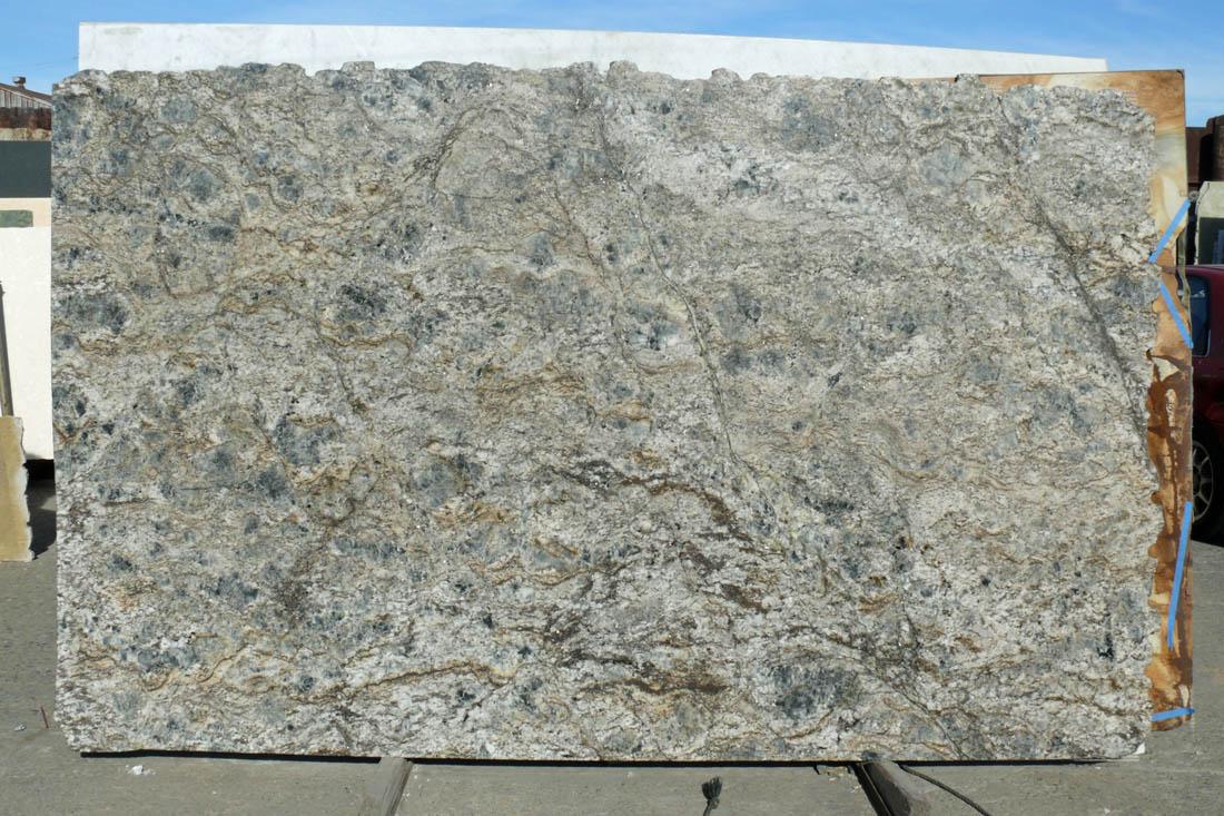 Blue Flower Granite Slab Grey Polished Brazil