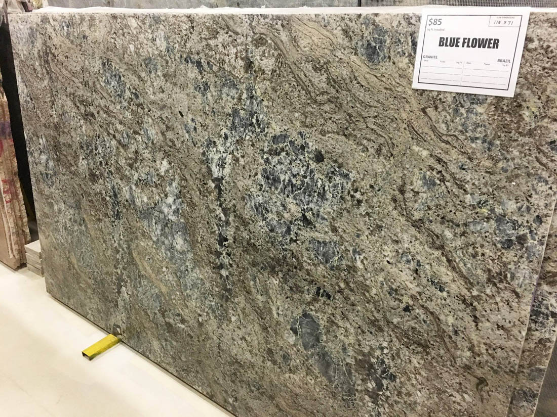 Blue Flower Granite Slabs Polished Granite Slabs for Countertops