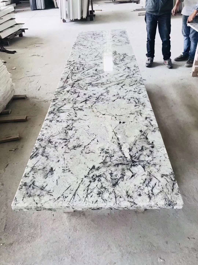 Blue Ice Blue Persa Star White Granite Table Tops