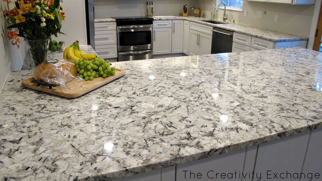 Blue Ice White Granite Kitchen Countertops