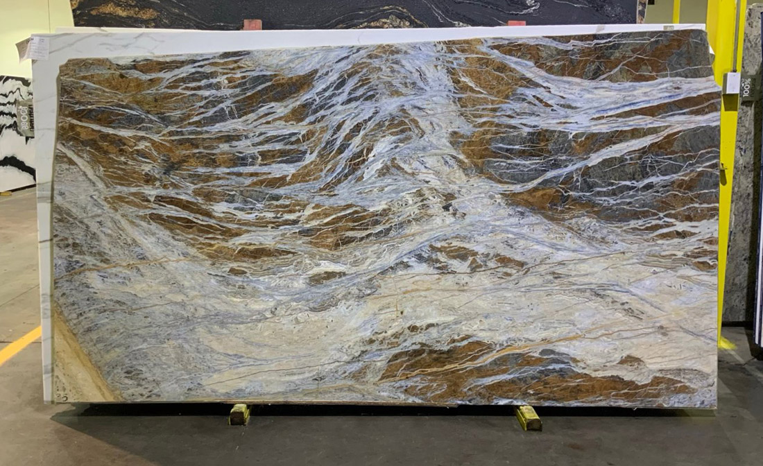 Blue Jean Marble Slabs Turkish Polished 2cm Marble Slabs