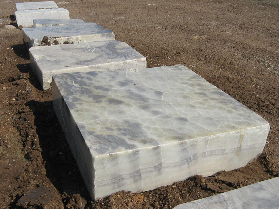 Blue Onyx Blocks Turkish Natural Onyx Blocks