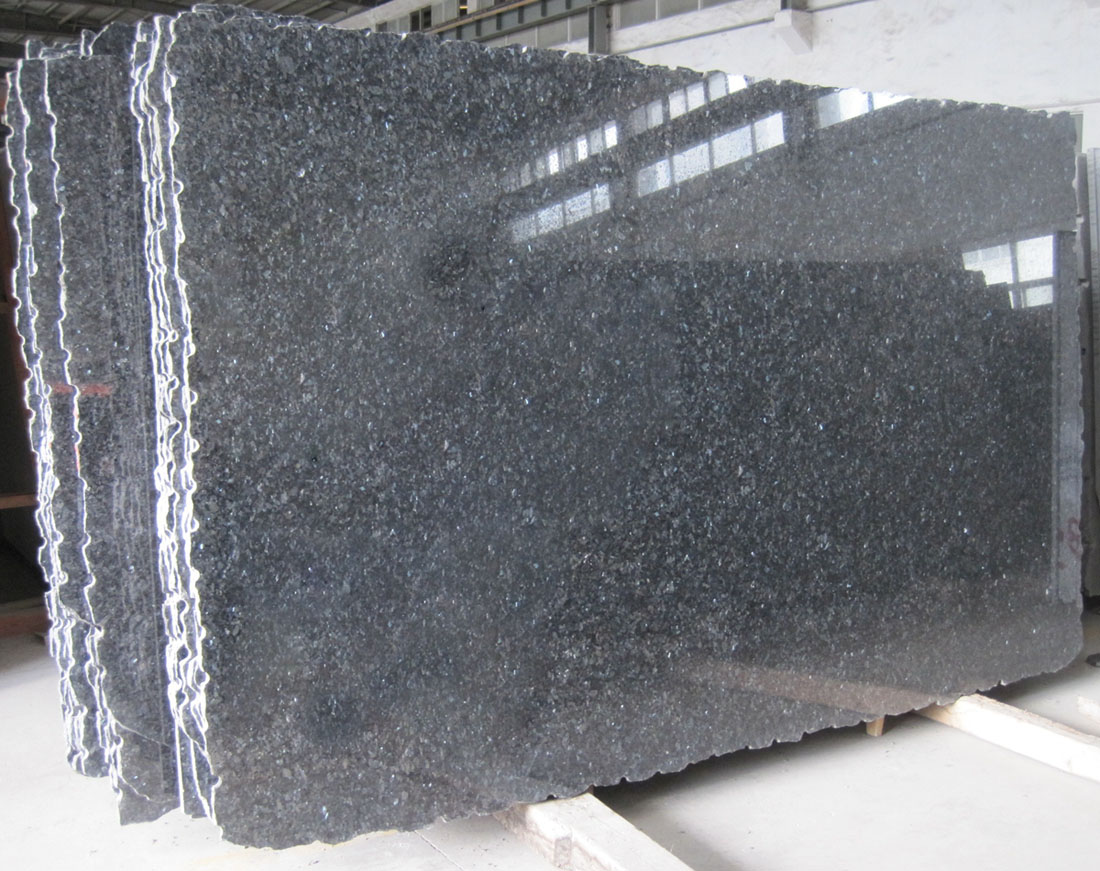 Blue Pearl Granite Slabs Polished Blue Granite Stone Slabs