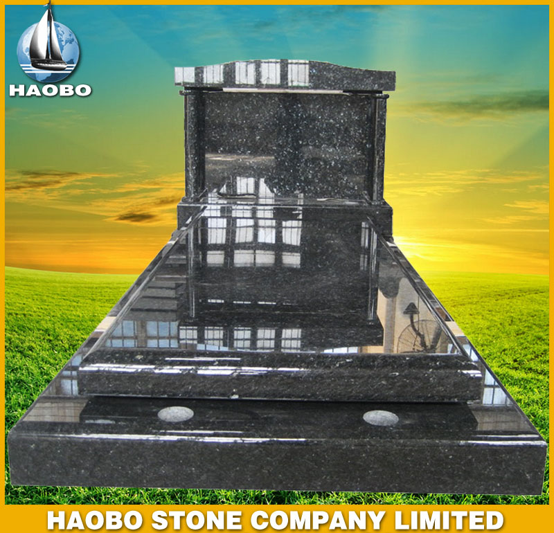 Blue Pearl Granite Tombstone French Style HBMFR007