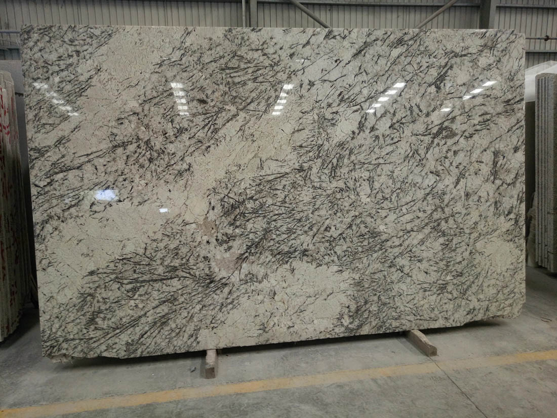 Blue Persa Pearl Delicatus White Granite Slabs