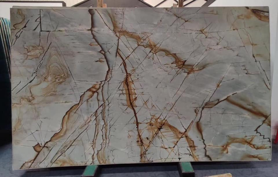 Blue Roma Imperiale Quartzite Slabs with High Quality