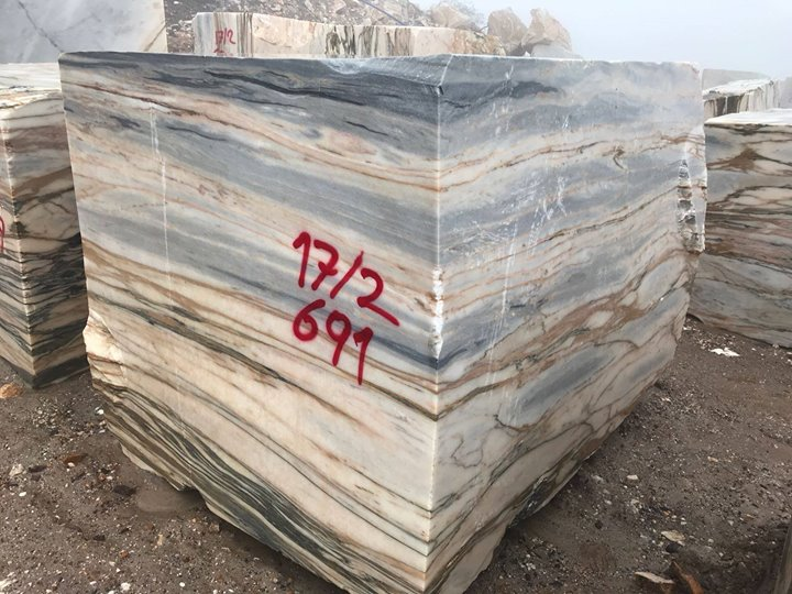 Blue Solare Marble Blocks from Turkey