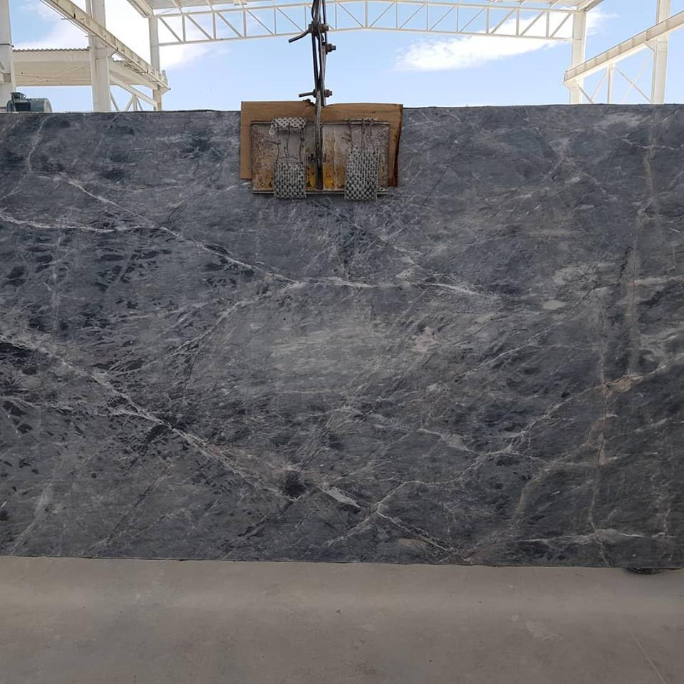 Blue Storm Light Marble Slabs from Maxico