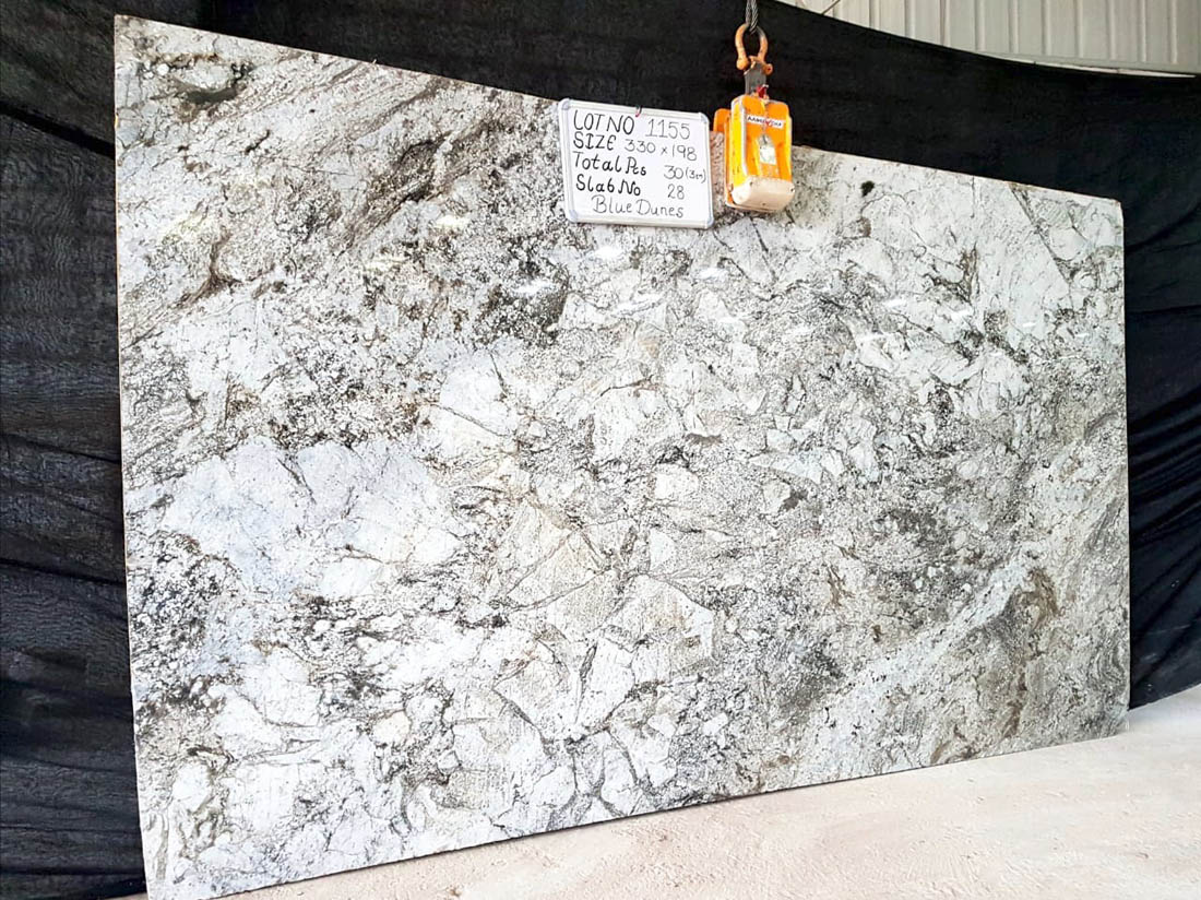 Blune Dunes Slab Granite Slab from India