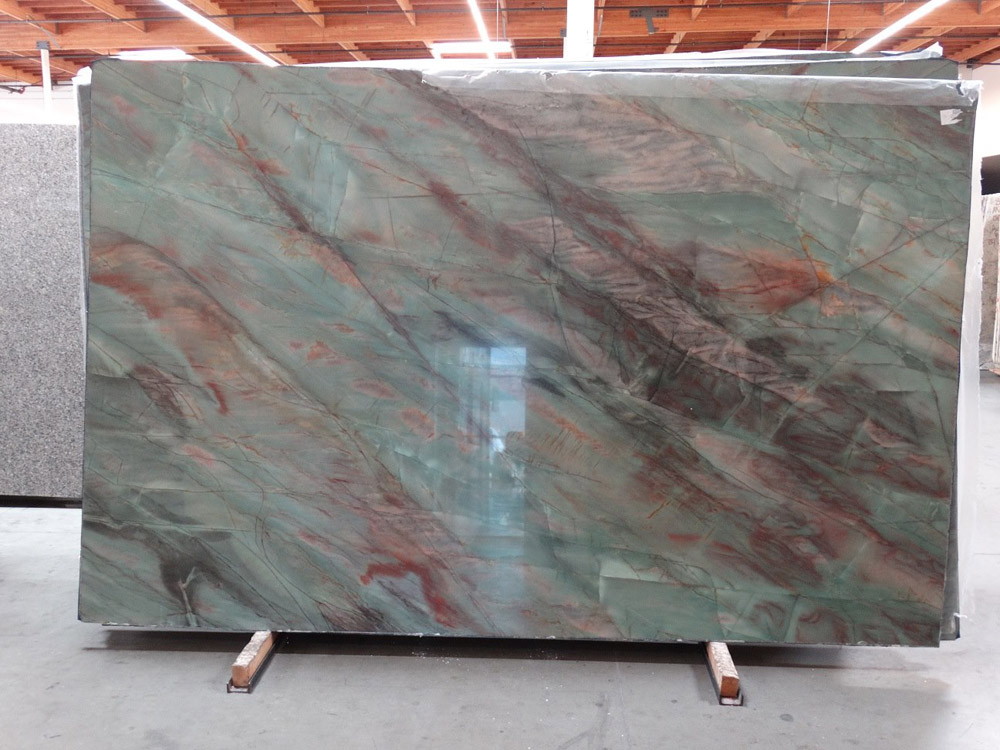 Botanic Green Quartzite Slabs Polished Quartzite Slabs