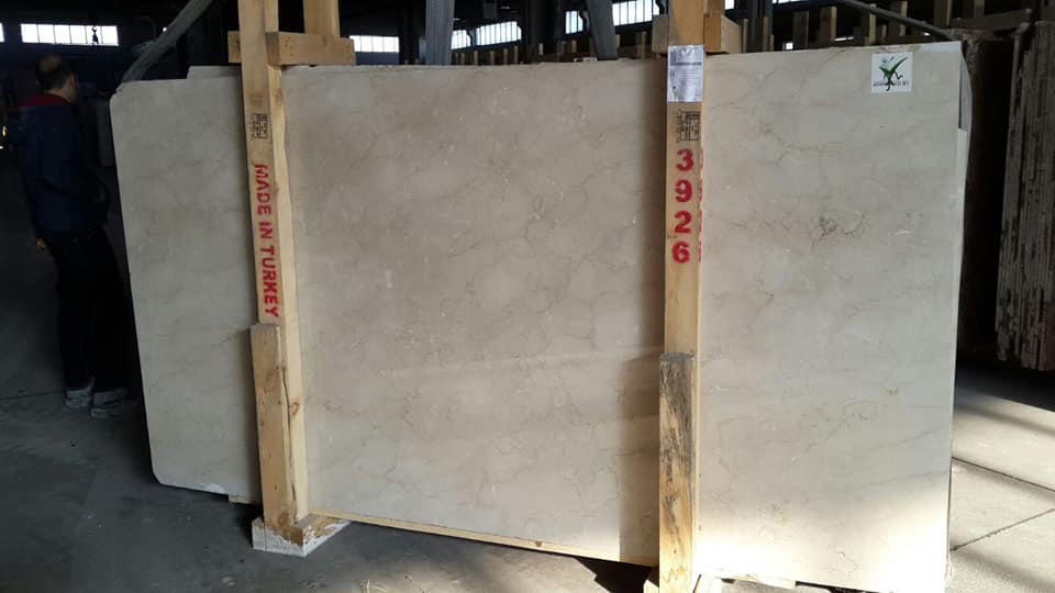Bottocino Beige Slabs Natural Marble Slabs from Turkey