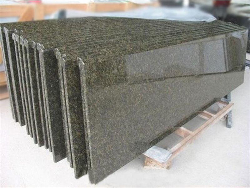 Brazil Amazon Green Granite Verde Ubatuba Granite Polished Countertops