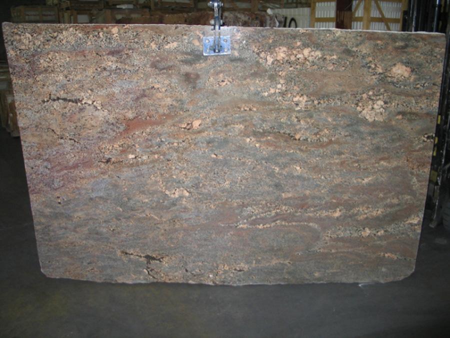 Brazil Crema Bordeaux Polished Granite Stone Slabs for Kitchen Countertops