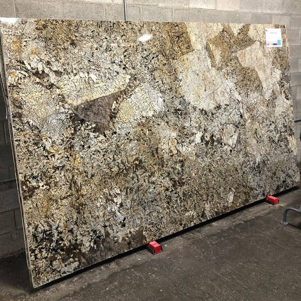 Brazil Crystal Gold Granite Polished Big Slabs