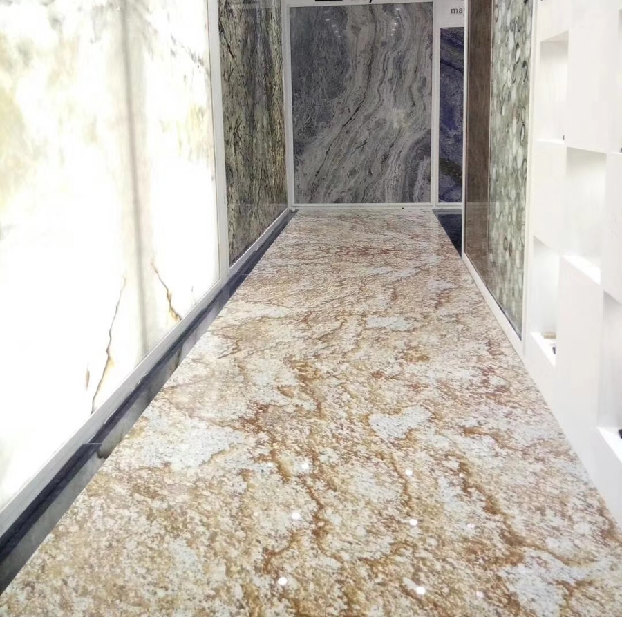Brazil Gold Granite Floor Tiles
