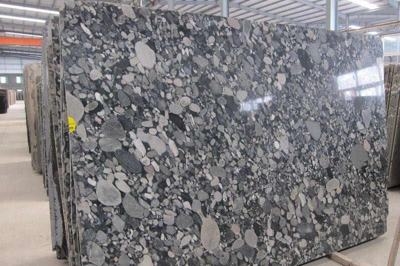 Brazil Nero Marinace Black Granite Slab