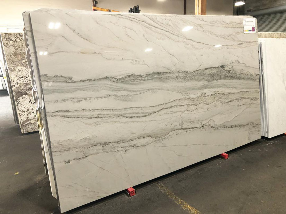 Brazil Polished Opus White Quartzite Slabs