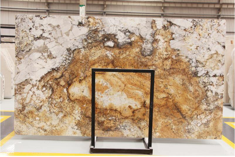 Brazil Various Color Shangrila Gold Granite Polished Slabs