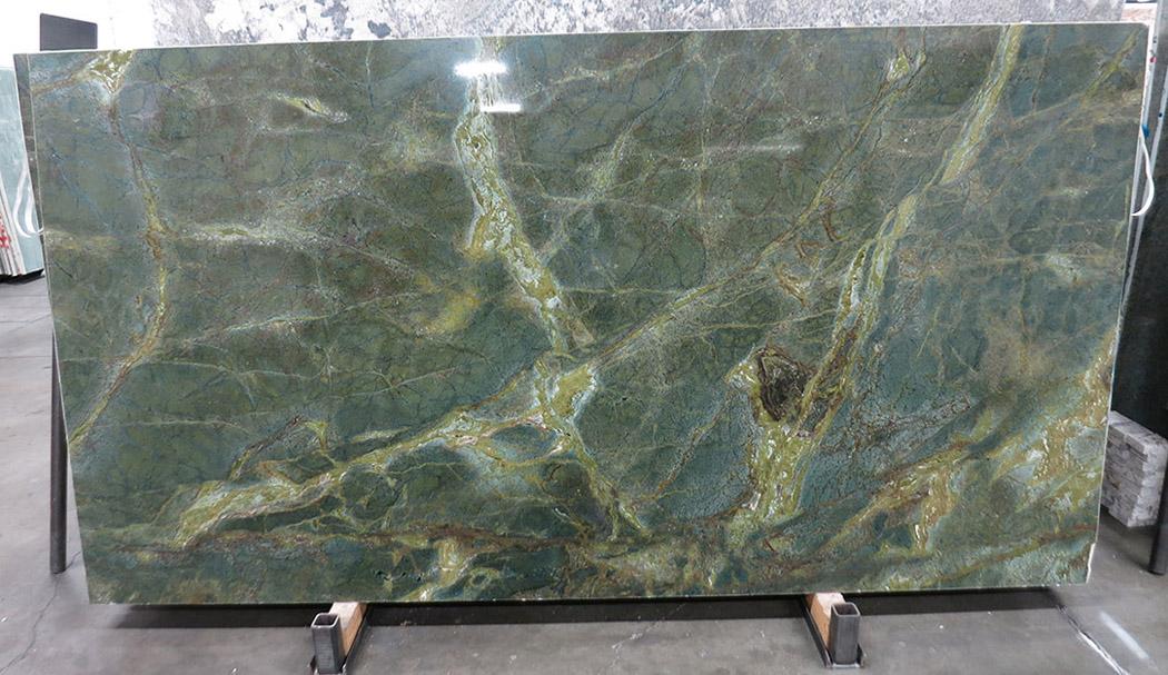 Brazil Verde Karzai Granite Slabs Polished Green Granite Slabs