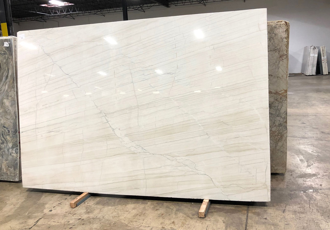 Brazil White Lux Quartzite Slab Polished White Quartzite Stone Slabs