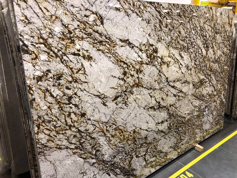 Brazil White Tiger Granite Slabs