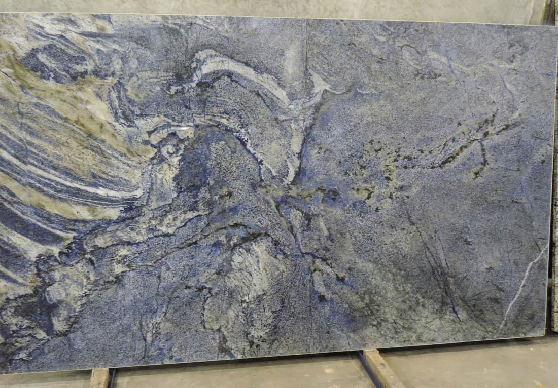 Brazilian Blue Bahia Granite Slabs Polished Blue Granite Stone Slabs