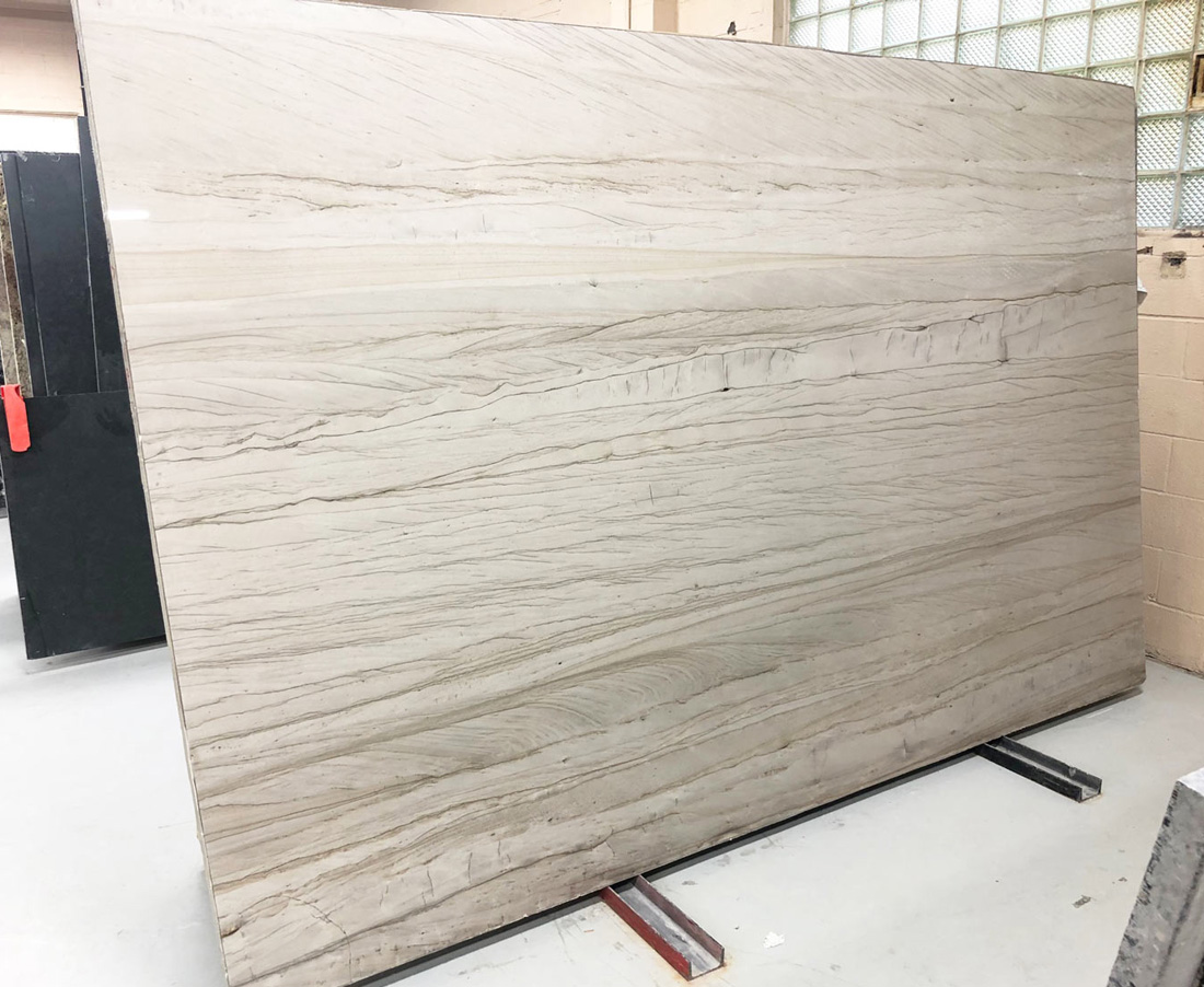 Brazilian White Macaubas Slab White Quartzite Stone Slabs for Countertops