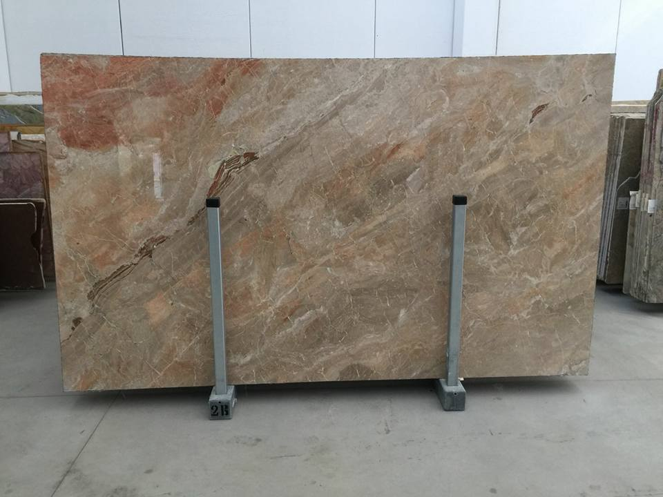 Breccia Oniciata Polished Brown Marble Slabs