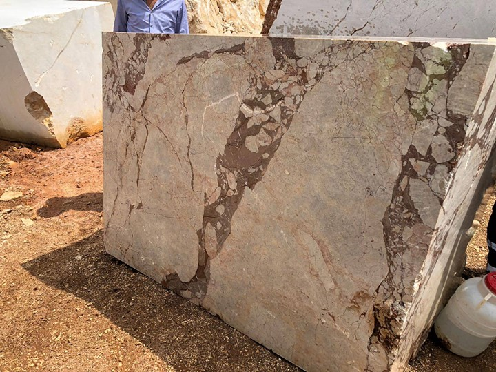 Brecia Beige Turkish Marble Blocks