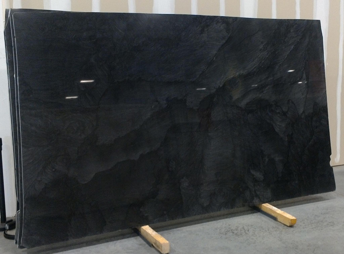 Brilliant Black Quartzite Polished Slabs
