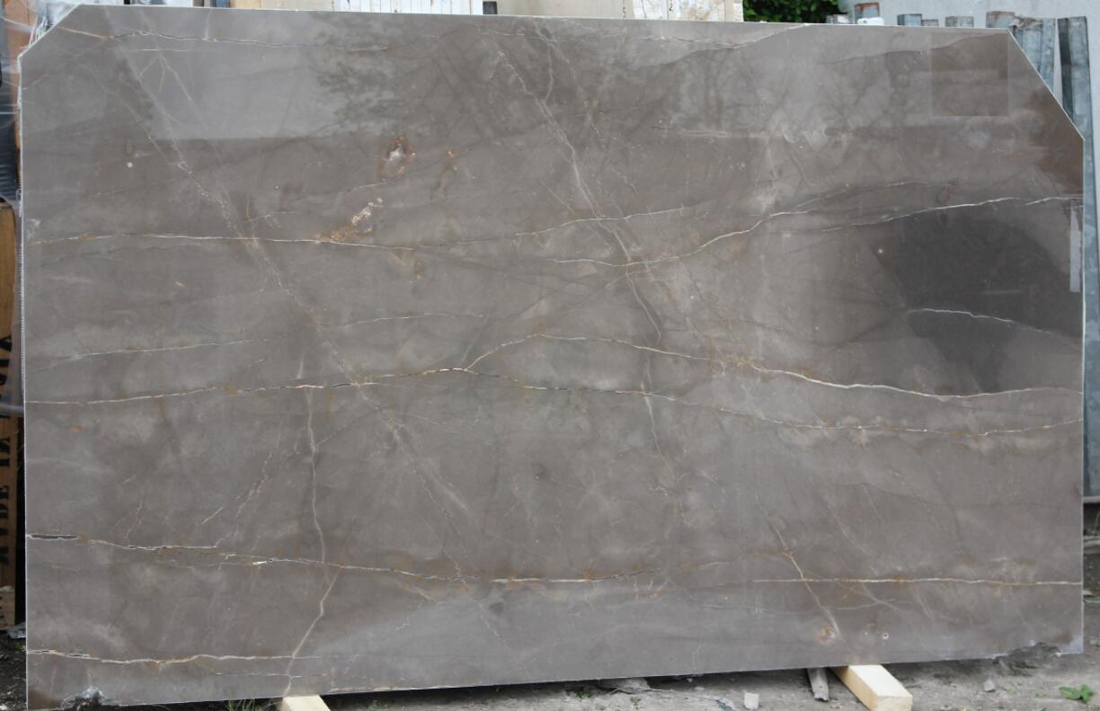 Bronze Amani Marble Slabs Polished Grey Marble Slabs for Walls