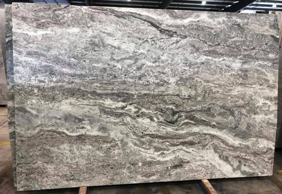 Brown Fantasy Marble Slabs Leather Finish Slabs