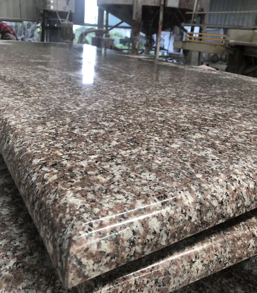 Brown Granite Countertops Polished Prefabricated Countertops for Kitchen