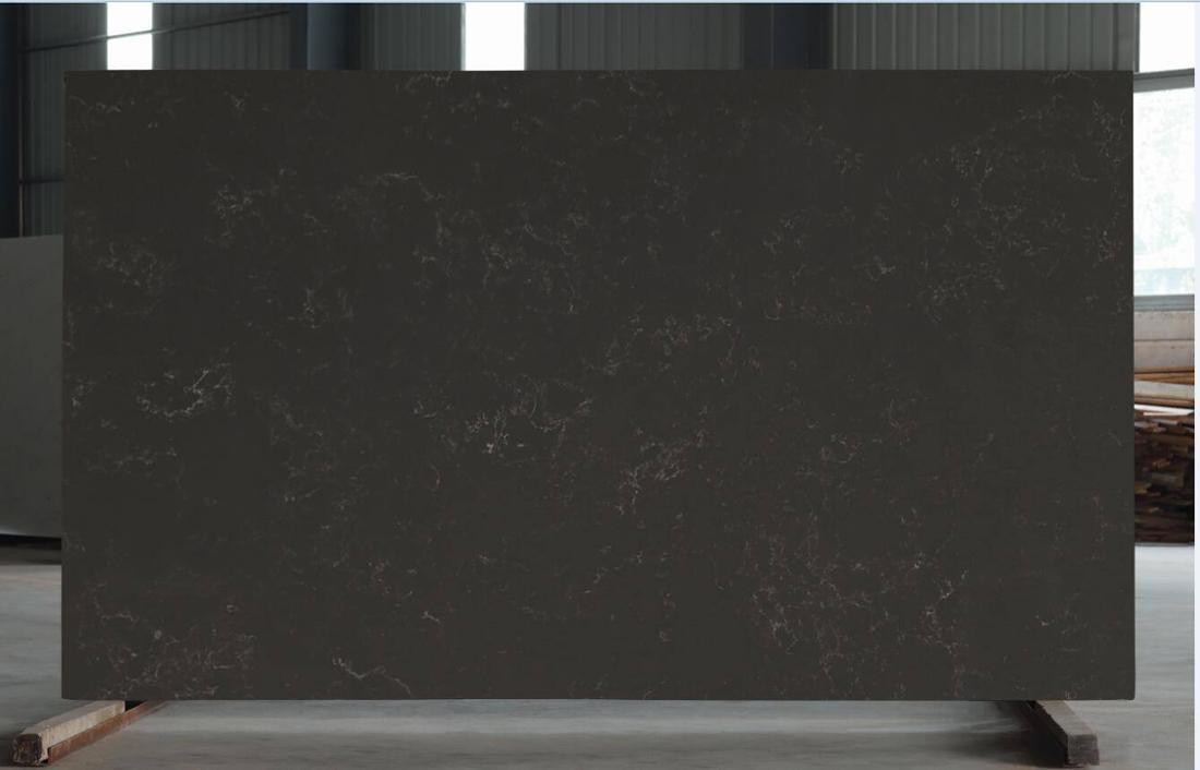 Brown Marble Color Quartz Slab