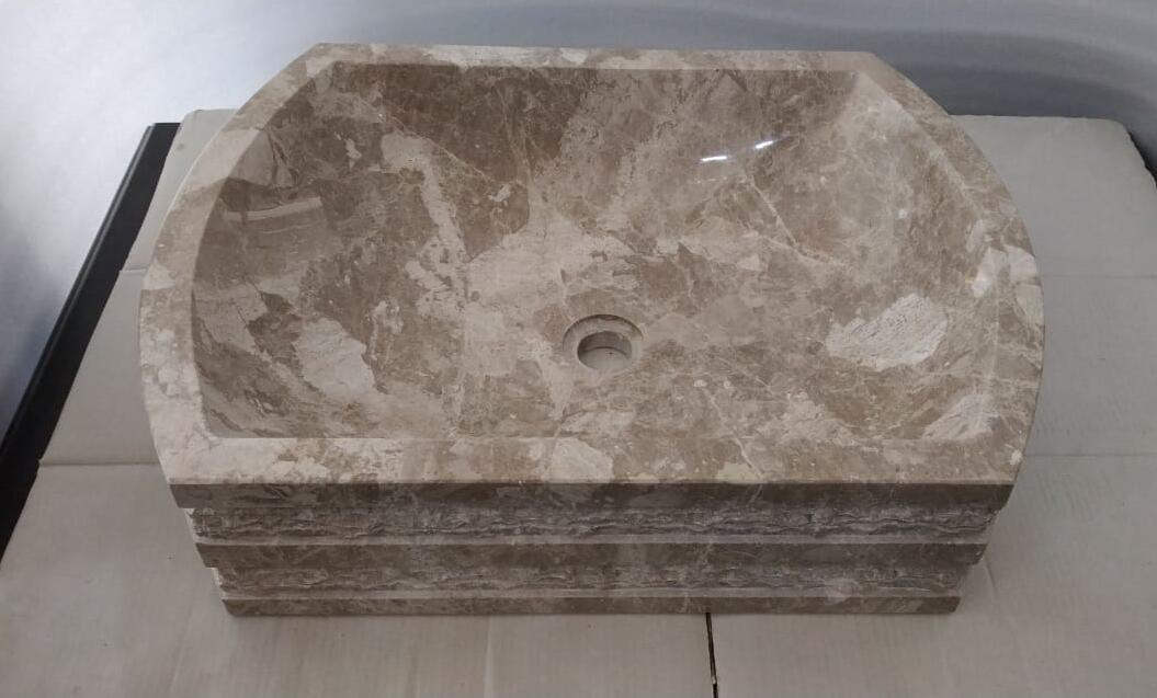 Brown Marble Stone Polished Sinks