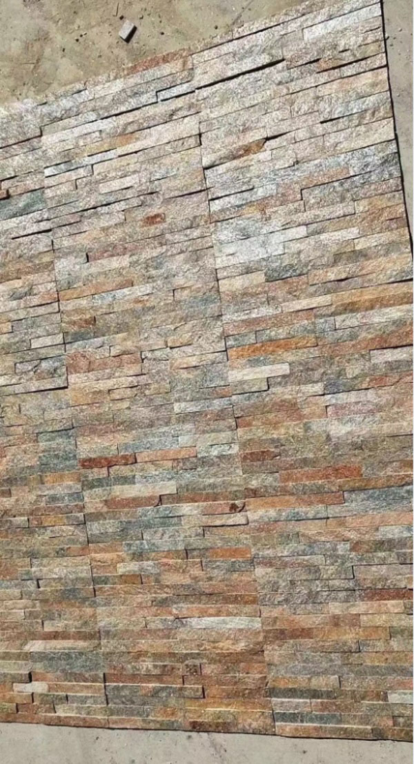 Brown Natural Stone Wall Panel