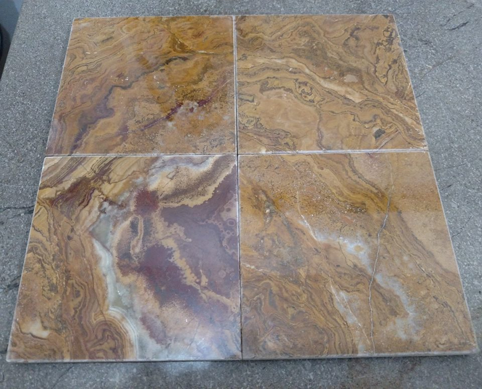 Brown Onyx Tiles from Pakistan