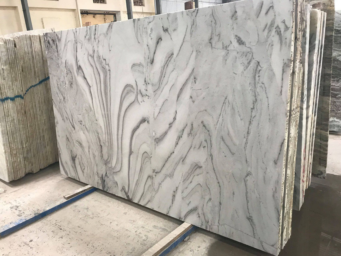 Bruno White Marble Polished Marble Slabs from India