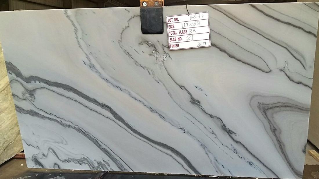 Bruno White Polished White Marble Slabs