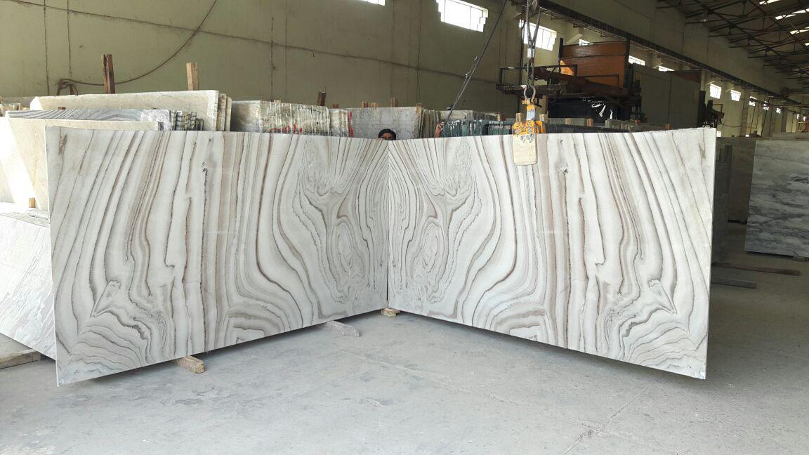 Bruno White Slab